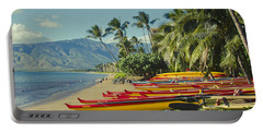 Kenolio Beach Sugar Beach Kihei Maui Hawaii  Portable Battery Charger