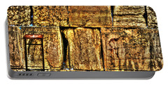 Portable Battery Charger featuring the photograph Wailing Wall by Doc Braham