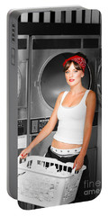 Washing Clothes At Laundry Portable Battery Charger