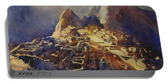 Watercolor Painting Machu Picchu Peru Portable Battery Charger