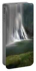 Waterfall At Monastery Of Piedra Portable Battery Charger