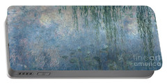 Waterlilies Morning With Weeping Willows Portable Battery Charger