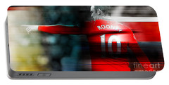 Wayne Rooney Portable Battery Charger by Marvin Blaine