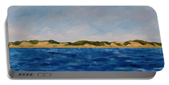 West Michigan Dunes Portable Battery Charger by Michelle Calkins