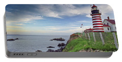 Portable Battery Charger featuring the photograph West Quoddy Head Lighthouse by Alana Ranney