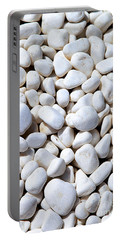 White Pebbles Portable Battery Charger
