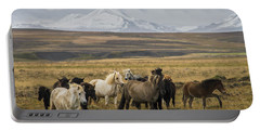 Wild Icelandic Horses Portable Battery Charger