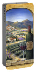 Wine And Lavender Portable Battery Charger