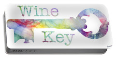 Wine Key Watercolor Portable Battery Charger