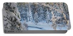 Winter At Grand Marais Creek Portable Battery Charger