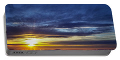 Portable Battery Charger featuring the photograph Winter Dawn Over New England by Greg Reed
