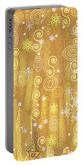 Portable Battery Charger featuring the digital art Winter Dress Detail by Kim Prowse