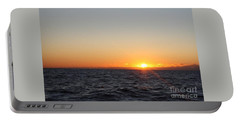 Winter Sunrise Over The Ocean Portable Battery Charger