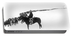 Wintertime Cattle Drive Portable Battery Charger
