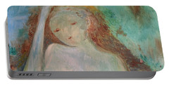 Portable Battery Charger featuring the painting Woman Of Sorrows by Laurie L