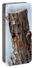 Woodpecker And Starling Fight For Nest Portable Battery Charger