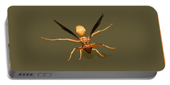 Yellow Jacket Wasp Portable Battery Charger by Tom Janca
