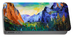 Yosemite Valley - Tunnel View Portable Battery Charger