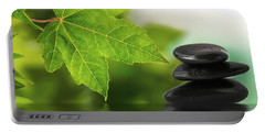 Zen Stones On Water Portable Battery Charger