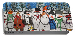 10 Christmas Snowmen  Portable Battery Charger by Jeffrey Koss