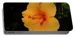 Hibiscus Portable Battery Charger by Ron Davidson