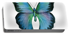 12 Blue Emperor Butterfly Portable Battery Charger