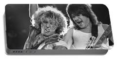 Van Halen - Sammy Hagar With Eddie Van Halen Portable Battery Charger by Concert Photos