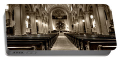 Church Of The Assumption Portable Battery Charger by Amanda Stadther