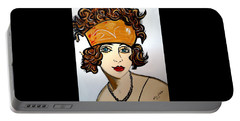 1920's Flapper Girl Portable Battery Charger