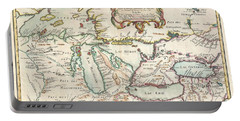 1755 Bellin Map Of The Great Lakes Portable Battery Charger