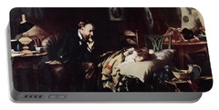 1800s Rural Country Doctor Ponders Fate Portable Battery Charger