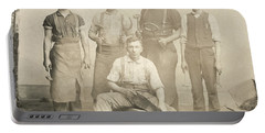 1800's Vintage Photo Of Blacksmiths Portable Battery Charger