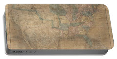 1839 Burr Wall Map Of The United States  Portable Battery Charger