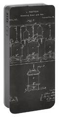 1873 Brewing Beer And Ale Patent Artwork - Gray Portable Battery Charger