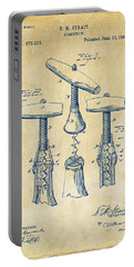1883 Wine Corckscrew Patent Artwork - Vintage Portable Battery Charger by Nikki Marie Smith