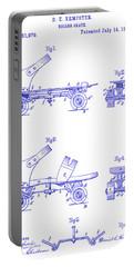 1885 Roller Skate Patent Blueprint Portable Battery Charger