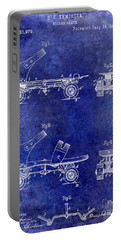 1885 Roller Skate Patent Drawing Blue Portable Battery Charger
