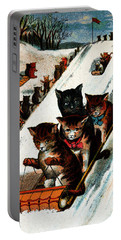 1887 Toboggan Cats Portable Battery Charger