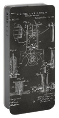 1890 Bottling Machine Patent Artwork Gray Portable Battery Charger