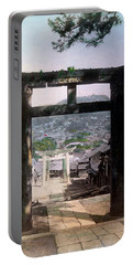 1890 Osuwa Temple Gate Of Nagasaki Japan Portable Battery Charger by Historic Image