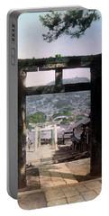 1890 Osuwa Temple Gate Of Nagasaki Japan Portable Battery Charger