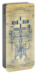 Portable Battery Charger featuring the drawing 1894 Tesla Electric Generator Patent Vintage by Nikki Marie Smith