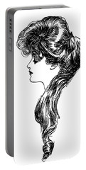 1900s 1898 Profile Sketch Turn Portable Battery Charger