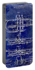 1901 Wind Musical Instrument Patent Drawing Blue Portable Battery Charger