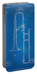 1902 Slide Trombone Patent Blueprint Portable Battery Charger