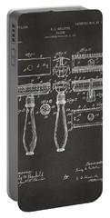 1904 Gillette Razor Patent Artwork - Gray Portable Battery Charger