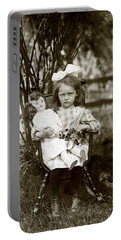 1905 Portrait Of A Cranky Girl Portable Battery Charger by Historic Image