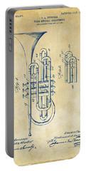 1906 Brass Wind Instrument Patent Artwork Vintage Portable Battery Charger