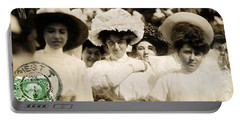 Portable Battery Charger featuring the photograph 1908 Fashionable Ladies Of Trieste by Historic Image
