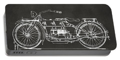 1919 Motorcycle Patent Artwork - Gray Portable Battery Charger